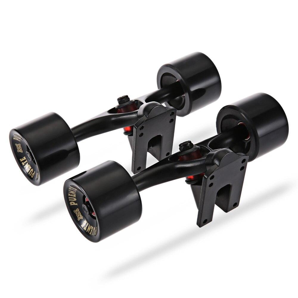 PUENTE 2 pcs/ensemble Planche À Roulettes Camion avec Skate Roue Riser ABEC-9 Roulement boulon écrou