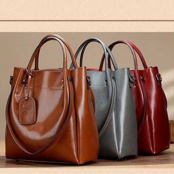 New Fashion Luxury High Quality 100% Genuine Cow Leather Women Large Capacity Handbag Single Shoulder Lady Bag Shopping Big Bags