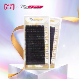 Miss Lamode super soft all size 1pc/lot BCD Curl mink eyelashes extension individuals eyelashes extensions wimper(China)