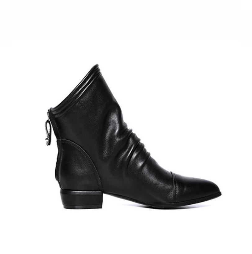 Muje Zapatos Tobillo Planos Señaló Black Plus Para De Martin Tamaño Mujer Pu Cremallera Ocasionales Botas q1ZxO74wx