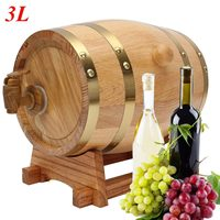 3L Whisky Red Wine Barrel Keg Wine Spirits Port Liquor Wood French Toasted Wine Barrels High Quallity