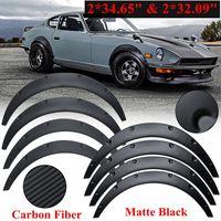 4Pcs 88cm Car Body for fender Flares Extension Wide Wheel Arches Universal Flexible Auto Mudguard Flare Wheel Kit Body Lip