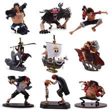 9 видов стилей Аниме one piece Luffy Chopper Dracule Mihawk Going Merry Shanks ПВХ фигурка Коллекционная модель Рождественский подарок игрушка
