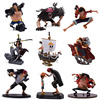 9 stylów Anime One Piece Luffy Chopper Dracule Mihawk Going Merry Shanks pcv figurka-Model kolekcjonerski prezent na boże narodzenie zabawka