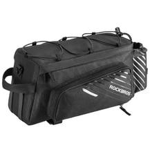 Rockbros Mtb Bicycle Carrier Bag Rear Rack Bike Trunk Bag Pannier Larger Capacity With Rain Cover Luggage Bag Rear Car