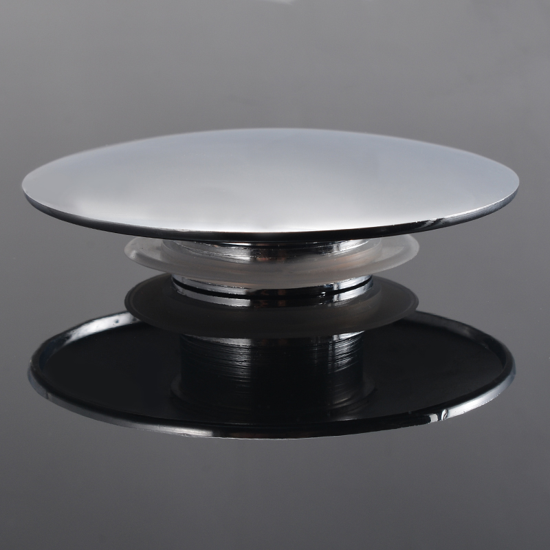 Chrome Zinc Alloy Basin Push Button Waste Bathroom Sink Easy Click Clack Plug Push Button 66mm For Bathroom Hardware