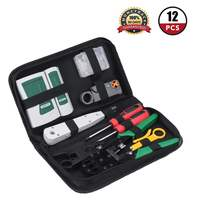 RJ11 RJ45 Computer Network Tool Repair Kit 18PCS Network Combination Cable Wire Tester Crimping Cutter Punch Down Tools Kit