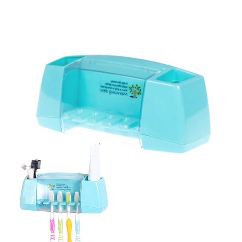 4 kolor wielofunkcyjny uchwyt na szczoteczkę do zębów pudełko do przechowywania zestawy akcesoriów łazienkowych stojak ścienny zestawem kosmetyków do zębów pasta do zębów
