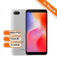 Xiaomi Redmi 6 ГБ 3 ГБ 32 Гб глобальная версия мобильного телефона Octa Core 18:9 5,45 полный экран двойной камеры 3000 мАч MIUI 9 ОТА смартфон