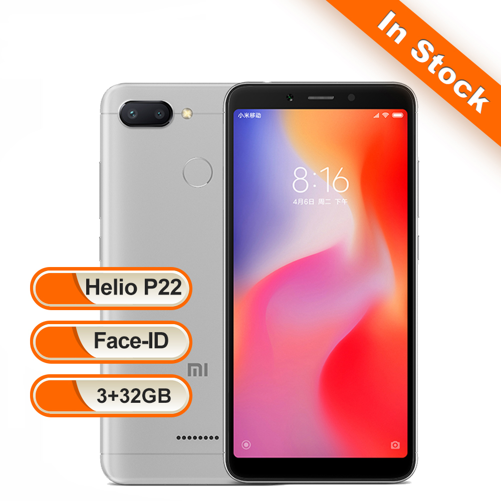 Xiaomi Redmi 6 3GB 32GB Global Version Mobile Phone Octa Core 5.45 18:9 Full Screen Dual Cameras 3000mAh MIUI 9 OTA Smartphone