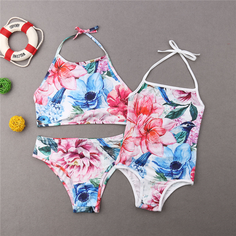 Family Swimwear Mother Daughter Clothes Swimsuit Bikini Bathing Suit Swimming Suit For Women Girls Swimwear Matching Swimsuit