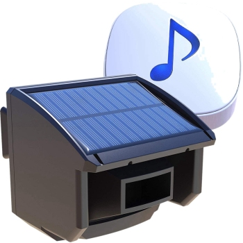 MOOL Solar Driveway Alarm System-1/4 Mile Long Transmission Range-Solar Powered No Need Replace Batteries-Outdoor Weatherproof