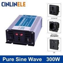 Умный Чистая синусоида Инвертор 300 Вт CLP300A DC 12 В 24 в 48 в к AC 110 В 220 В умная серия солнечной энергии 300 Вт импульсная мощность 600 Вт