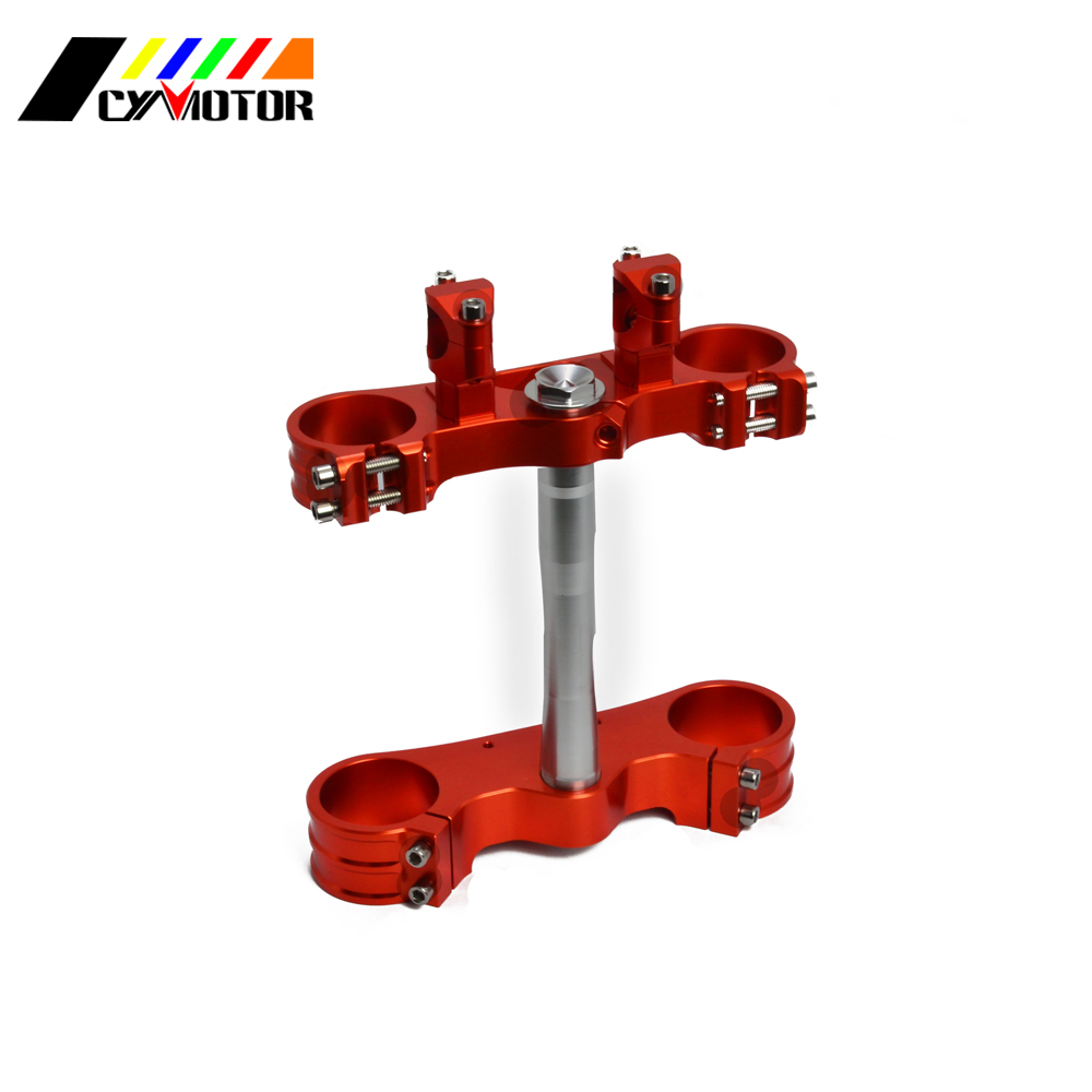 Motorcycle Triple Clamps Steering Stem And Clamp Riser Adaptor For KTM SX EXC EXCF 125 150 200 250 300 400 450 500 525 530 03-13