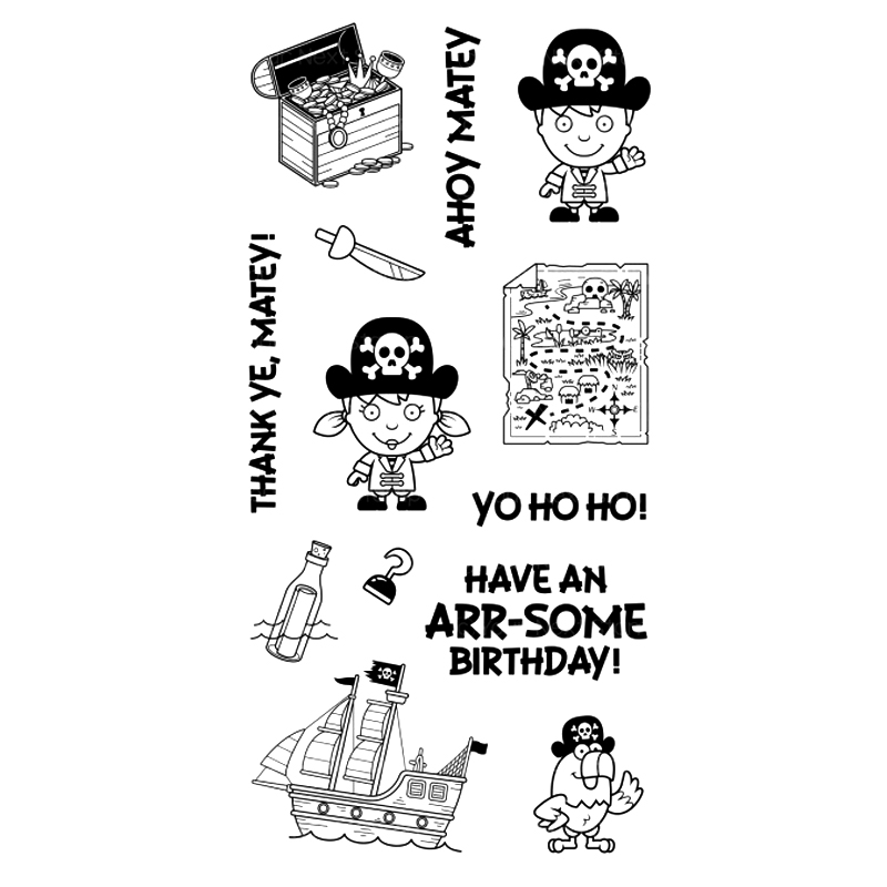 pirate Transparent Clear Silicone Stamp/Seal for DIY scrapbooking/photo album Decorative clear stamp