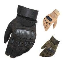 قفازات تكتيكية قاسية أصابع كاملة قفازات للرجال Airsoft لكرات الطلاء والصيد وإطلاق النار خاص بالجيش العسكرية القتالية واجب الشرطة