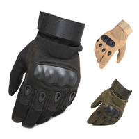 Tactical gloves Hard Knuckle Full Finger Gloves Men Airsoft Paintball Hunting Shooting Special Army Military Combat Police Duty|Safety Gloves| |  -