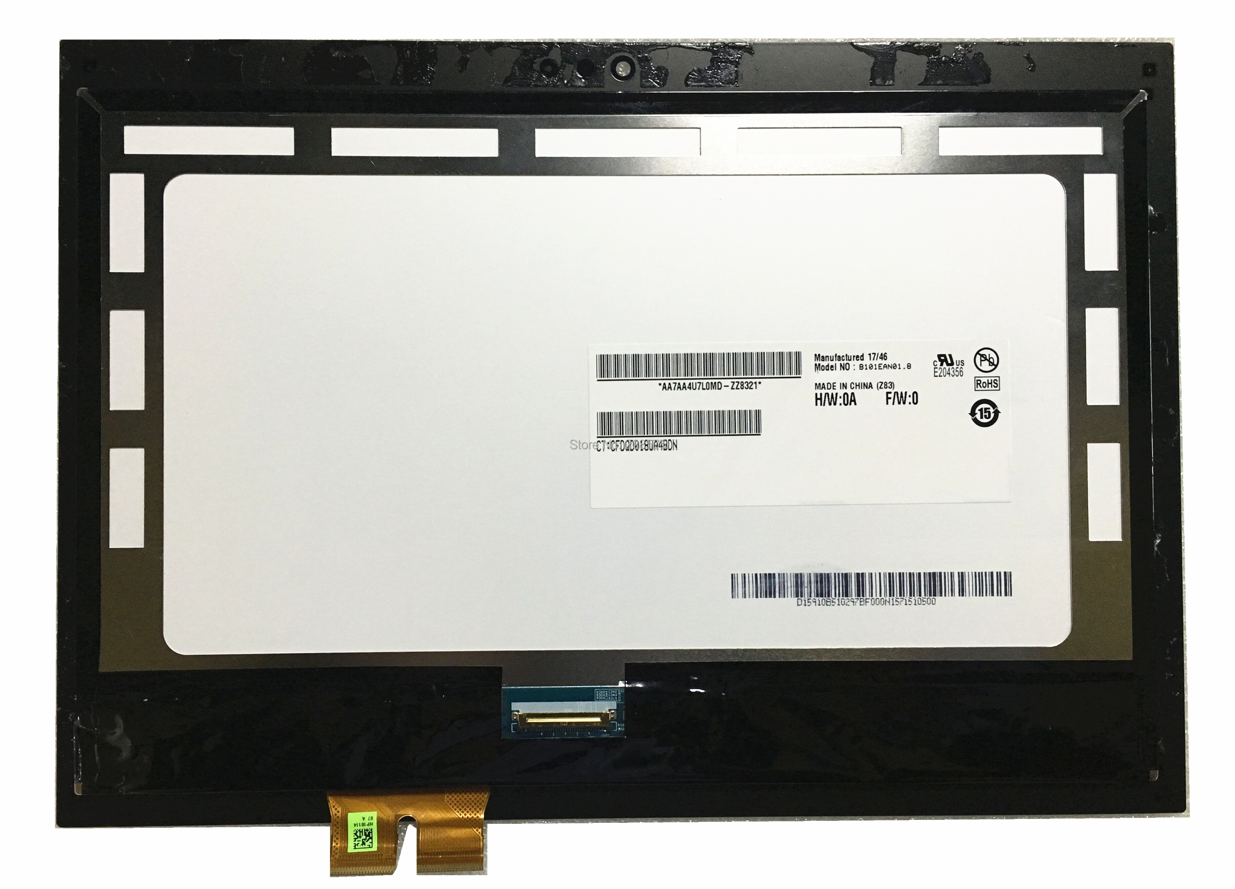 Free shipping 10.1''LCD Display Touch Panel Assembly Screen+Digitizer For HP Pavilion X2 210 G1 G2 B101EAN01.8 without frame