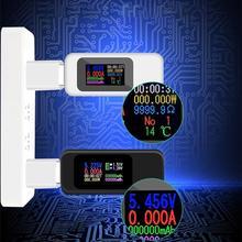 10 в 1 цифровой дисплей постоянного тока USB тестер Ток Напряжение зарядное устройство вольтметр запасные аккумуляторы для телефонов батарея ёмкость вольтметр детектор