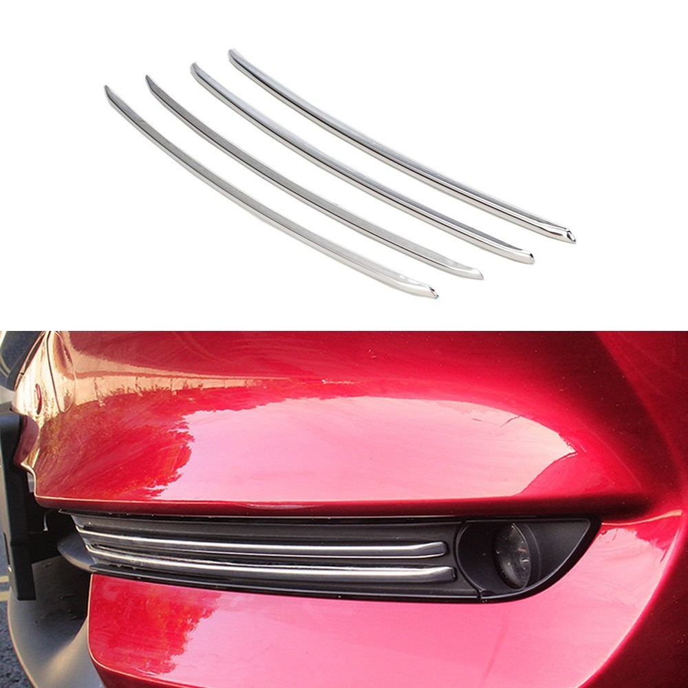 4pcs Car Front Fog Light Trim Strips For <font><b>Mazda</b></font> CX-5 <font><b>CX5</b></font> 2017-2019 Car Decoration Exterior Styling image