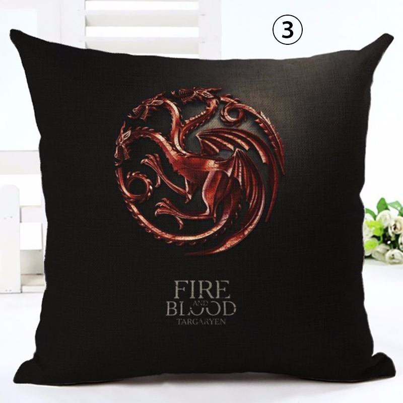 Linen Square Decorative Throw Pillow Case Vintage Cushion Case Euphoria Home Decorative Cushion Cover Game Of Thrones in Cushion Cover from Home Garden