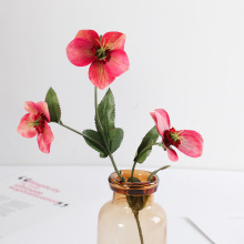 New Simulated Flower 3D Christmas Rose Small Single African Desert Home Wedding Decoration