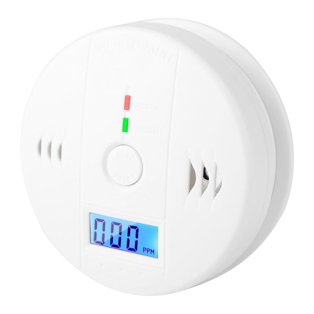 High Quality Carbon Monoxide Alarm CO Smoke Intelligent Sensor Poisoning Gas Warning  Detector Smart Smoke Detector(China)