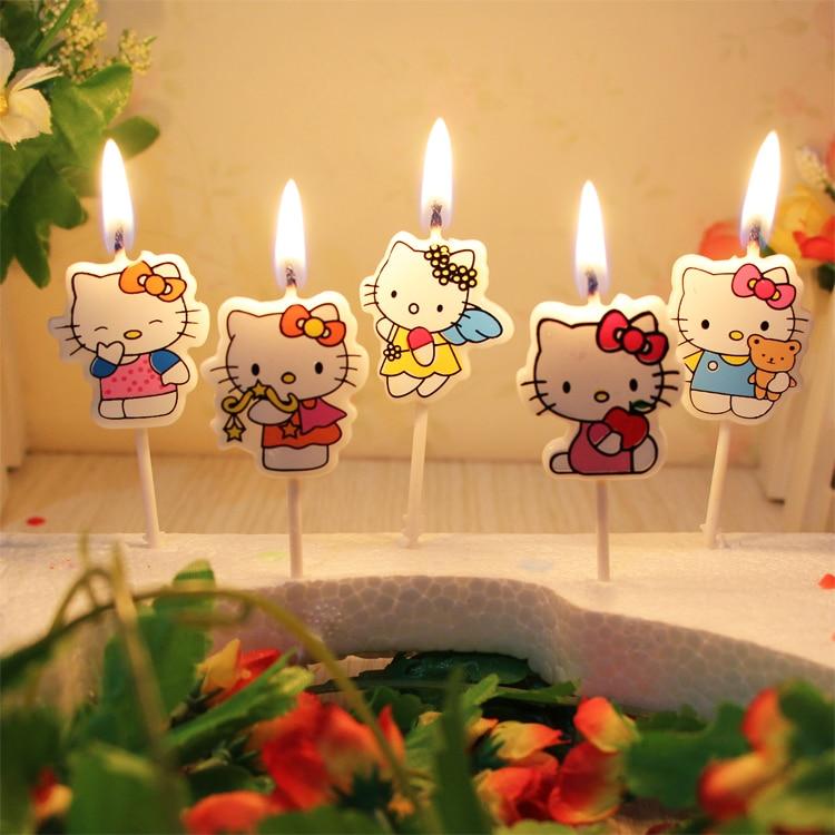 5 Pcs/set.Kawaii Cartoon Kid's Birthday Cake/Cupcake