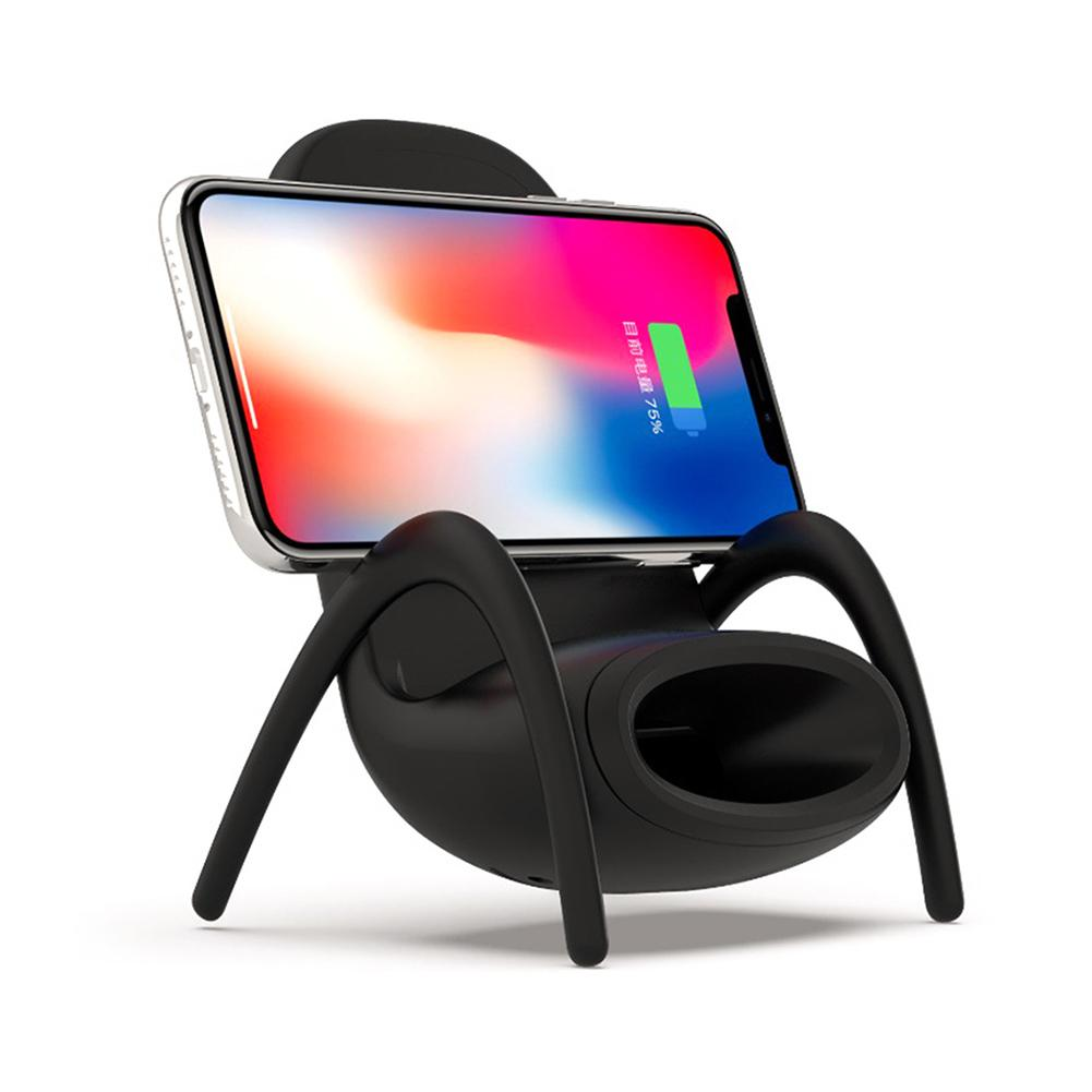 Chargers Accessories & Parts Mini Chair Wireless Smart Cell Phone Charger Stand Holder For Iphone 8 Xs/x/xr To Be Distributed All Over The World