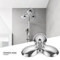 ABS Electroplated Rotatable Top Rain Shower Head Wall Mounted Water Saving Pressure Spray Nozzle Bath Shower Head Sprayer