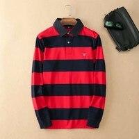 Good quality Fashion Brand Polo Shirt Men Clothing 2019 Autumn Mens Polo Shirt Long Sleeve Business Polos Shirts Casual Men's