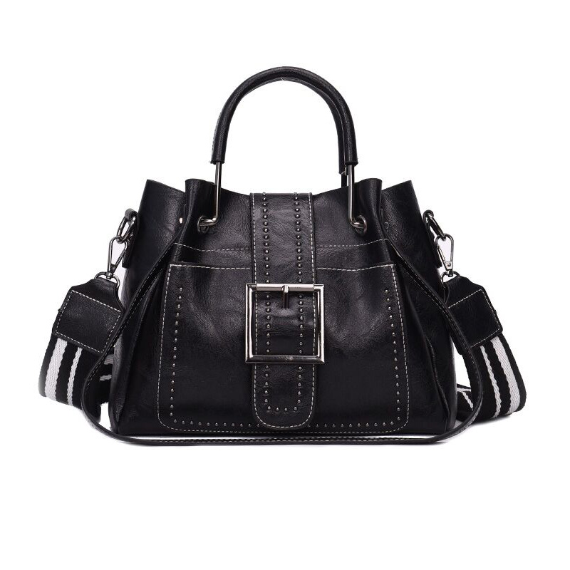 Bags For Women PU Leather Handbags Crossbody Bag For Women Vintage Bucket Shoulder Bag