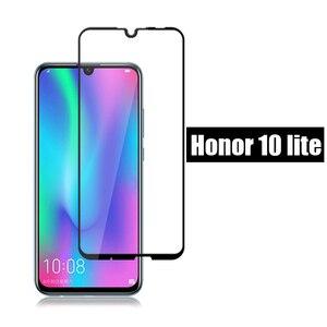 كامل غطاء الزجاج المقسى honor 10 لايت واقي للشاشة حالة على ل huawei honor 10 ضوء الحياة هونر 10 لايت زجاج واقي 9 h