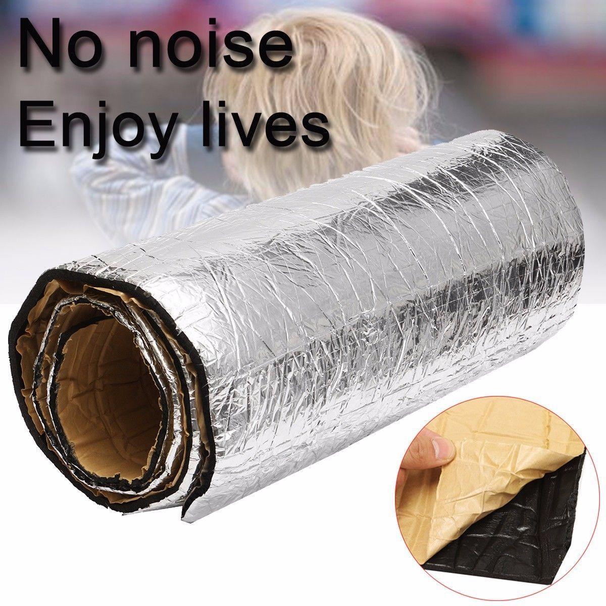 Car Auto Van Sound Proofing Deadening Insulation Foam 50cm*100cm*5mm For Hood Engine Firewall Heat Material Rubber Foam Sticke