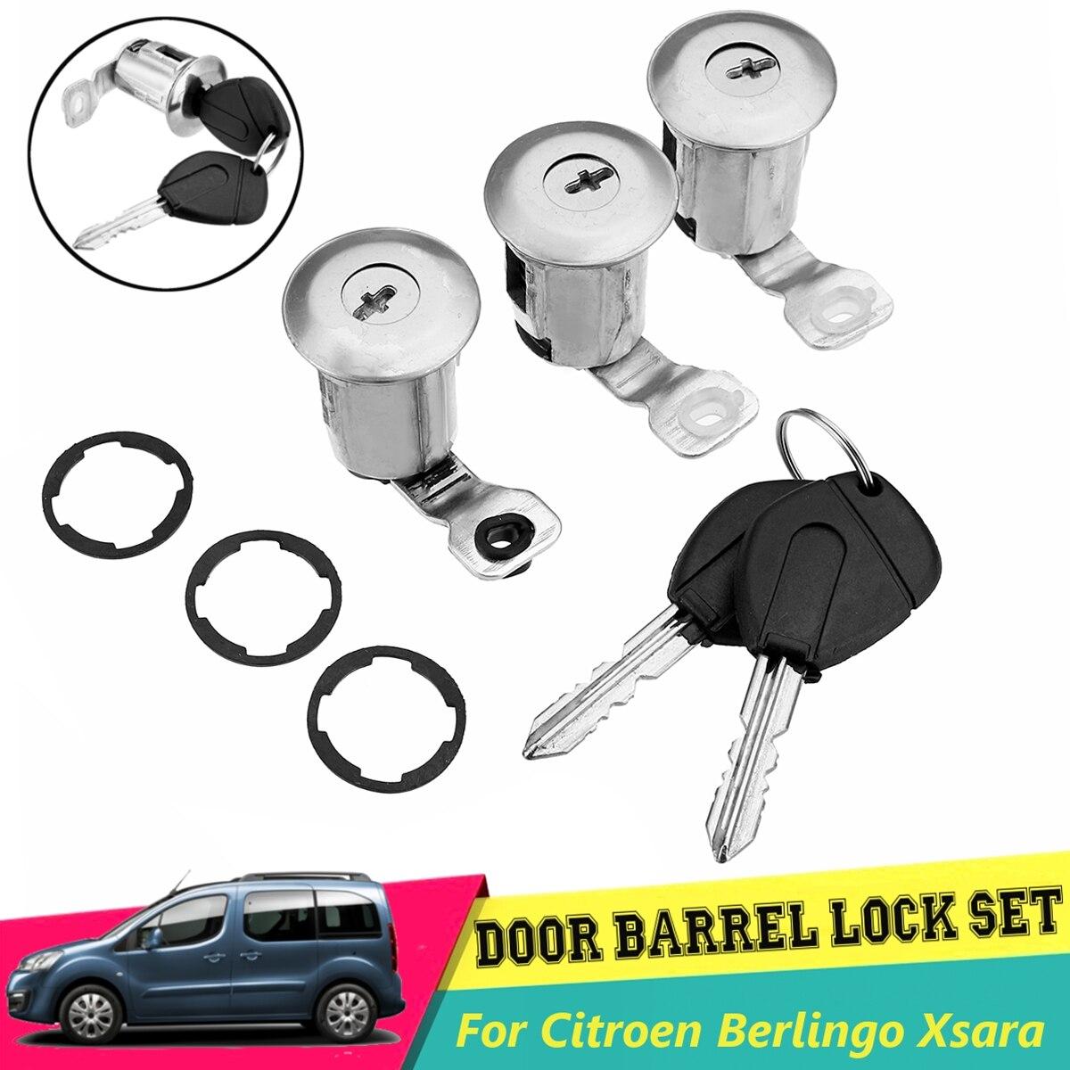 Serrure de porte automatique #2 barillet de serrure de porte de voiture 252522 avec cl/és pour partenaire Berlingo Xsara