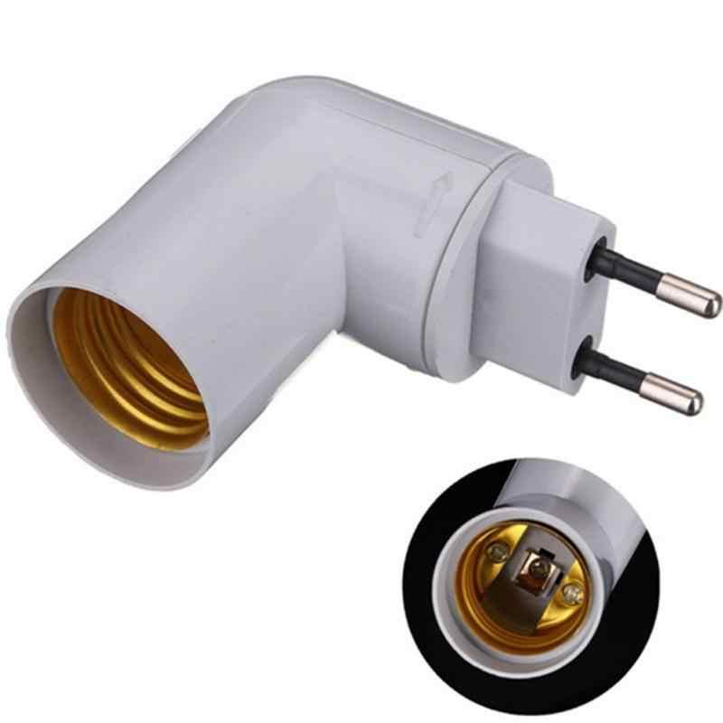 Штепсельная Вилка европейского стандарта PP в E27 Базовый Soket конвертер-Сплиттер держатель лампы с переключателем вкл/выкл адаптер винтовой преобразователь E27 лампа
