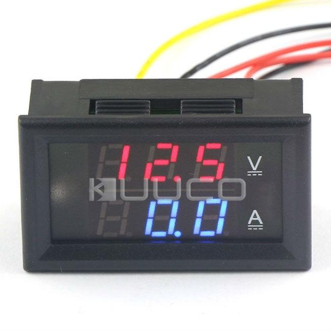 Instrument Parts & Accessories Tools 5 Pcs/lot Dc Monitor Meter/digital Meter Dc 0~300v/50a Ampere Voltage Meter Dc 12v 24v Dual Display Panel Meter/tester