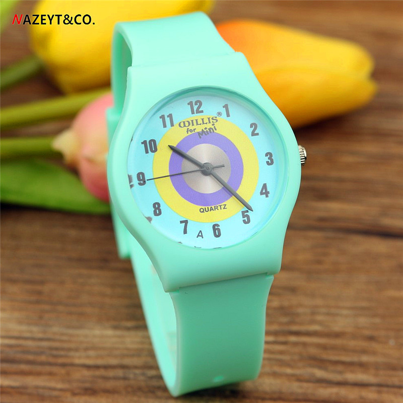 Free Shipping Lady Watch High Quality Unisex Student Green Strap Circle Dial Anlong Quartz Watch Children Waterproof Watch