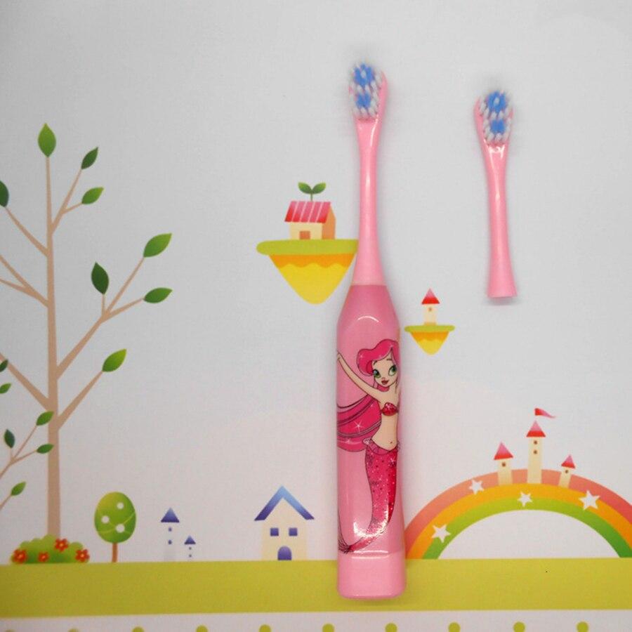 Купить с кэшбэком Child Electric Toothbrush Dental Electric Cleaning Brush Kids Toothbrush Baby Replace Head Sonic Toothbrush For Girls and Boys