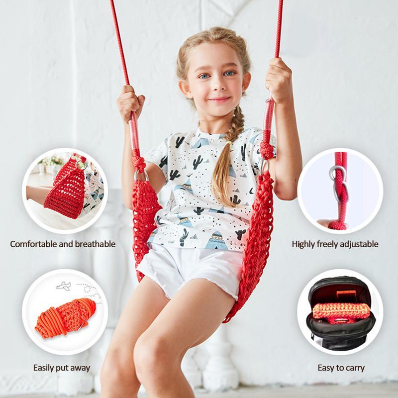 Balançoire enfant en bas âge jouet intérieur sens balançoire maille balançoire siège bébé corde Net chaise balançoire Sports jouets de plein air