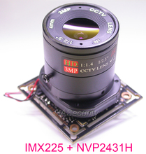 "AHD M (720 P) 1/3 ""Exmor IMX225 CMOS חיישן תמונה NVP2431 CCTV מצלמה PCB לוח מודול + OSD כבל + CS LEN + IRC (UTC תמיכה)"