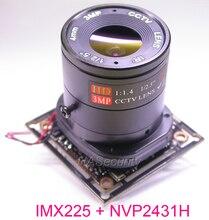 """AHD M (720 P) 1/3 """"Exmor IMX225 CMOS cảm biến hình ảnh NVP2431 CCTV máy ảnh PCB ban đun + cáp OSD + CS LEN + IRC (UTC hỗ trợ)"""
