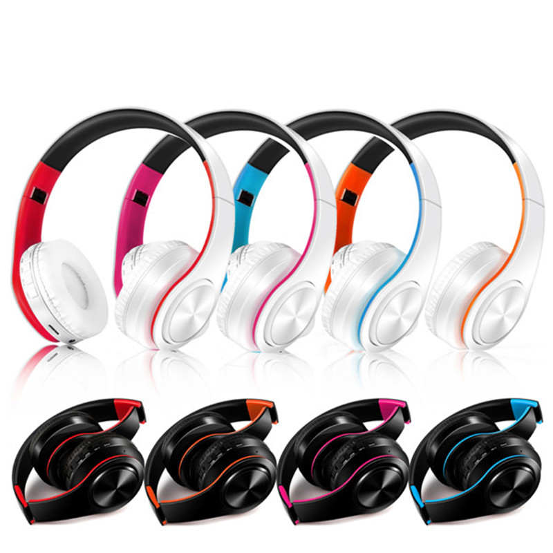 Hot Selling bluetooth 4.0 Wireless Foldable Headphones Headset on Ear With Microphone and SD Card Play for Phone Sport Music