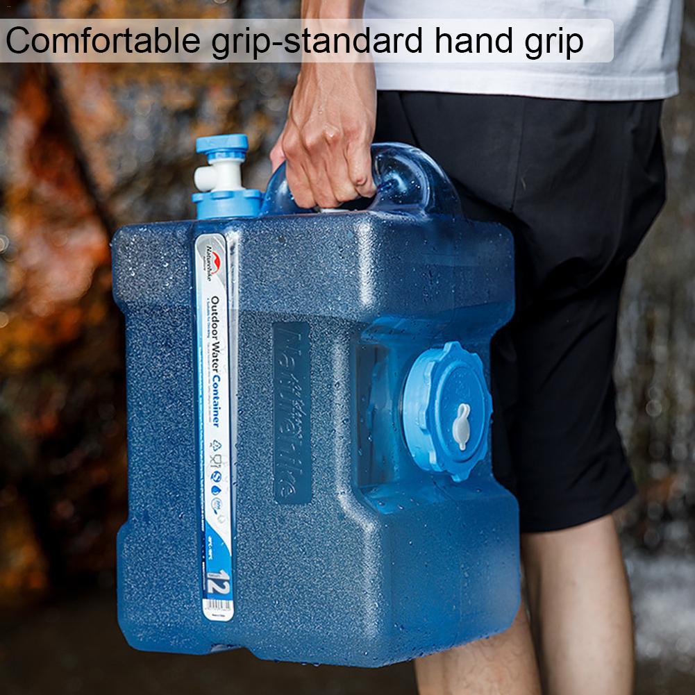 Portable en plein air potable pur seau PC eau bouillante en plastique réservoir de stockage de voiture seau de stockage conteneur d'eau 19L livraison directe