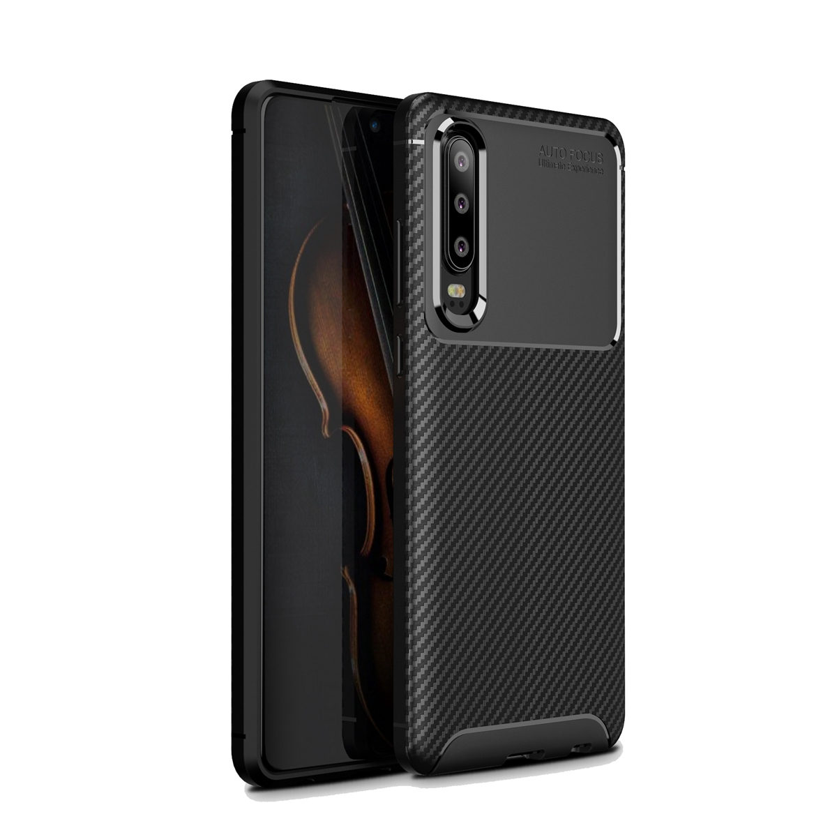 CASEWIN Soft TPU Case For Huawei P30 Pro Silicone Texture Carbon Anti-slip Armor Cover Shockproof