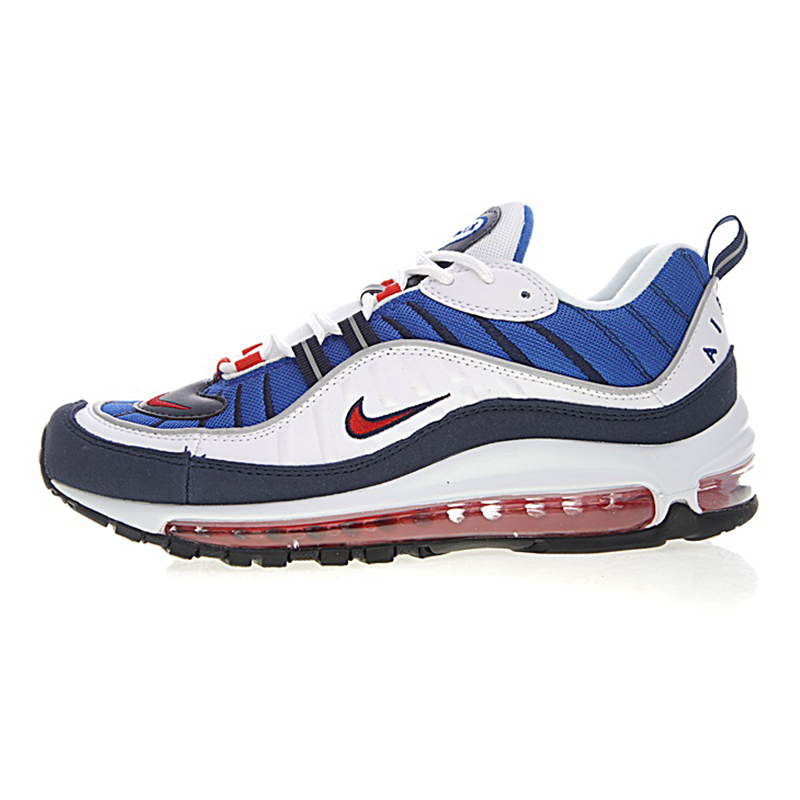 NIKE AIR MAX 98 Original Men Running Shoes Wear resistant Breathable Shock Absorption Non slip Sneakers 640744 100 in Running Shoes from Sports Entertainment