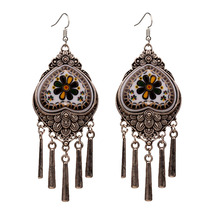 MYTHIC AGE Ethnic Vintage Bohemian Tribal Flower Heart Long Tassel Earrings For Women New Fashion Jewelry 2019