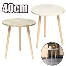 Modern Fashion Wooden Round Coffee Side Table Tea Nesting End Table Corner Home Livingroom Office Decor Tea Wine Corner Table(China)