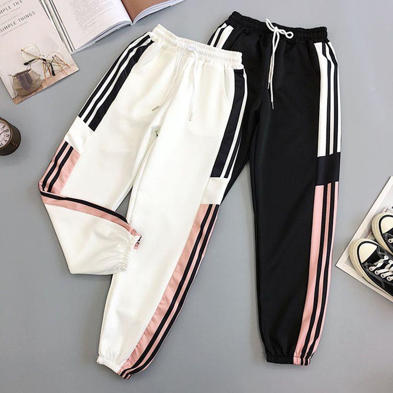 2019 New Black BF Style New Summer Streetwear Cool Girl Fashion Harajuku Hip Hop Pants Casual Pants