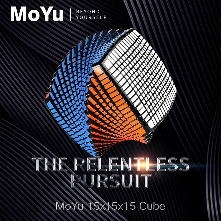Nouvelle Promo MOYU 15 couches 15x15x15 noir, sans autocollant Cube vitesse magique Puzzle 15x15 éducatifs Cubo magico jouets pour enfant - 5